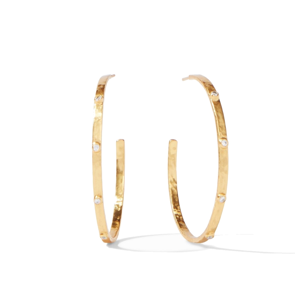Image 2 for Crescent Stone Hoop