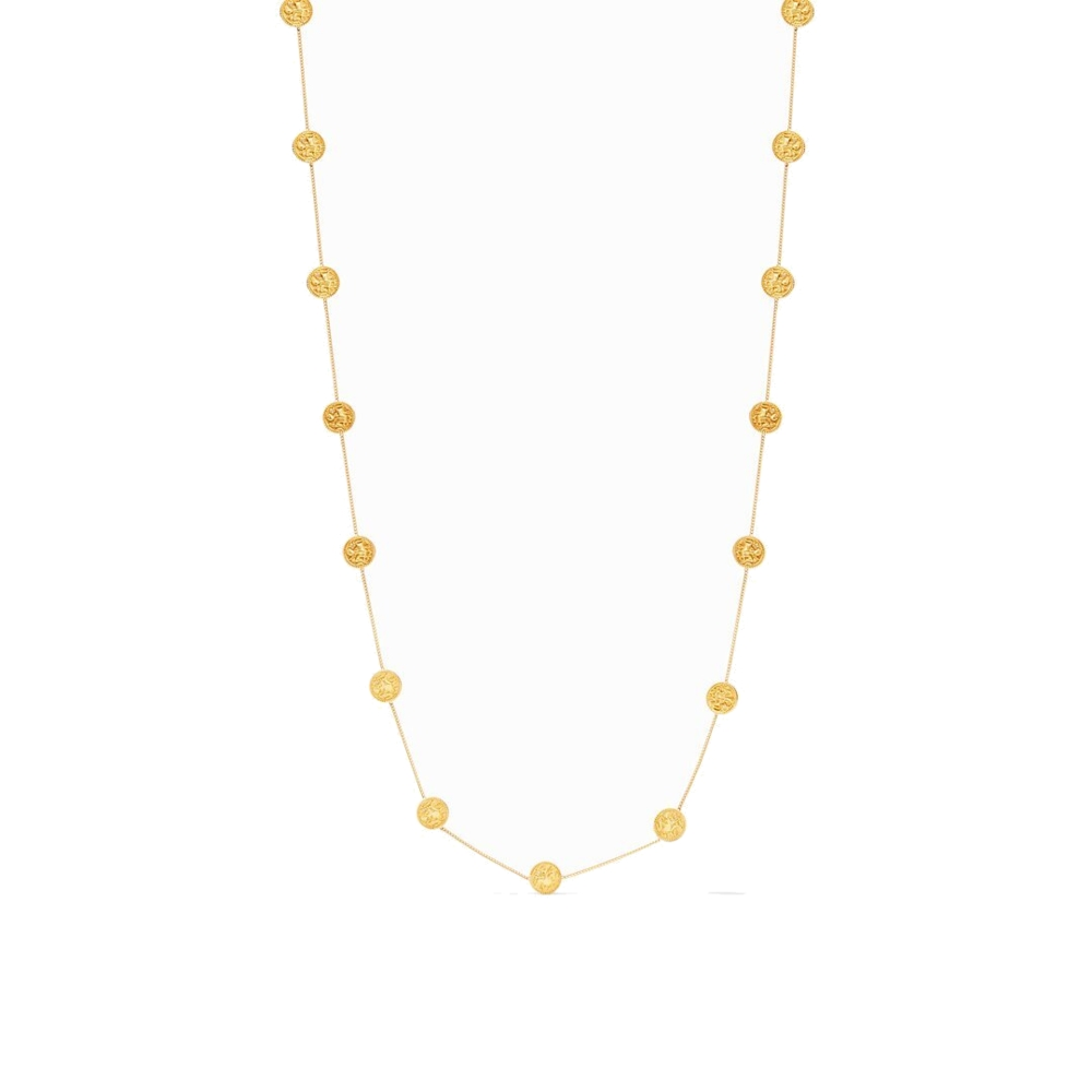Image 2 for Coin Delicate Station Necklace with CZ