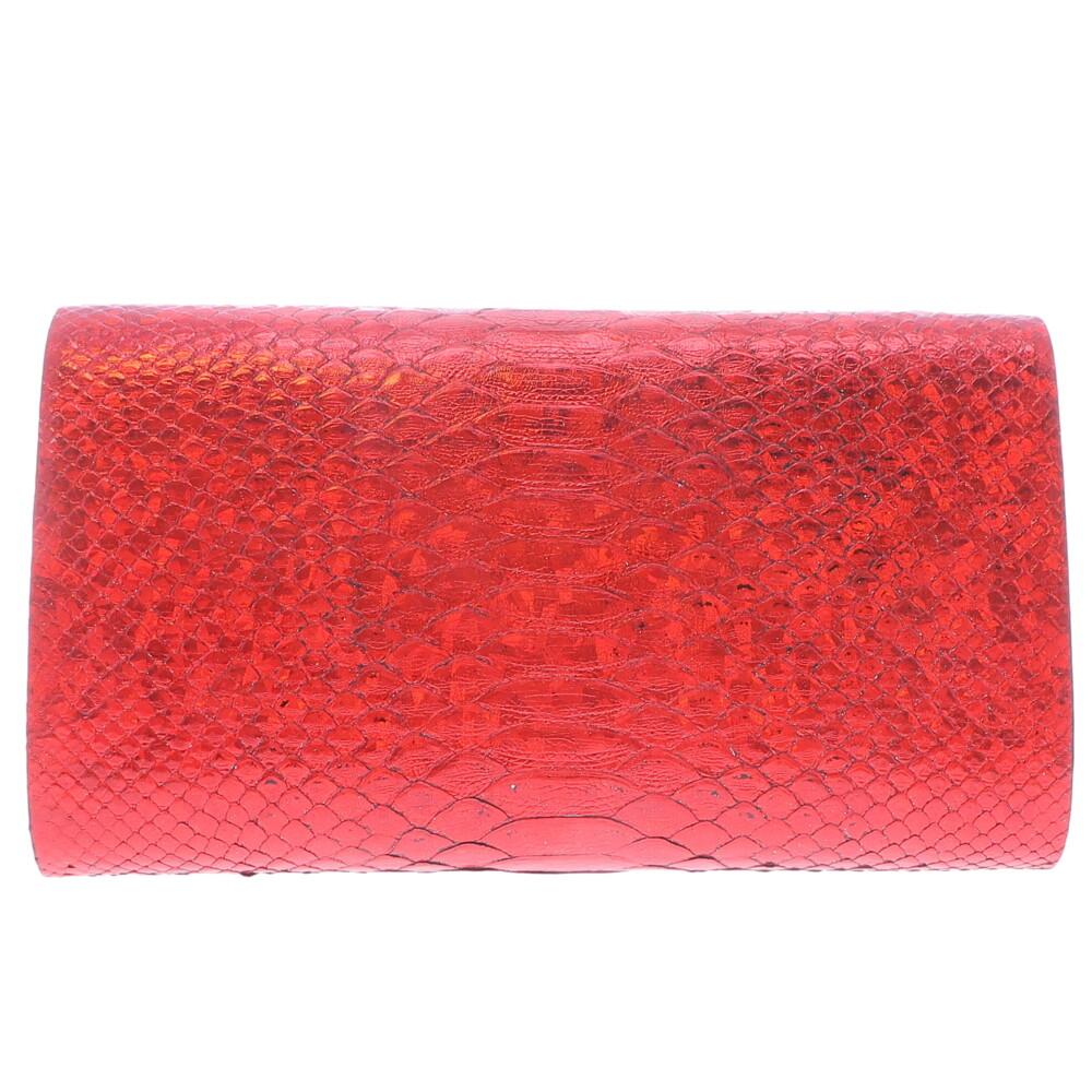 Iridescent Red Python Clutch