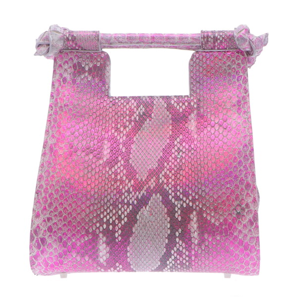 Closeup photo of Small Metallic Pink Python Resort Bag