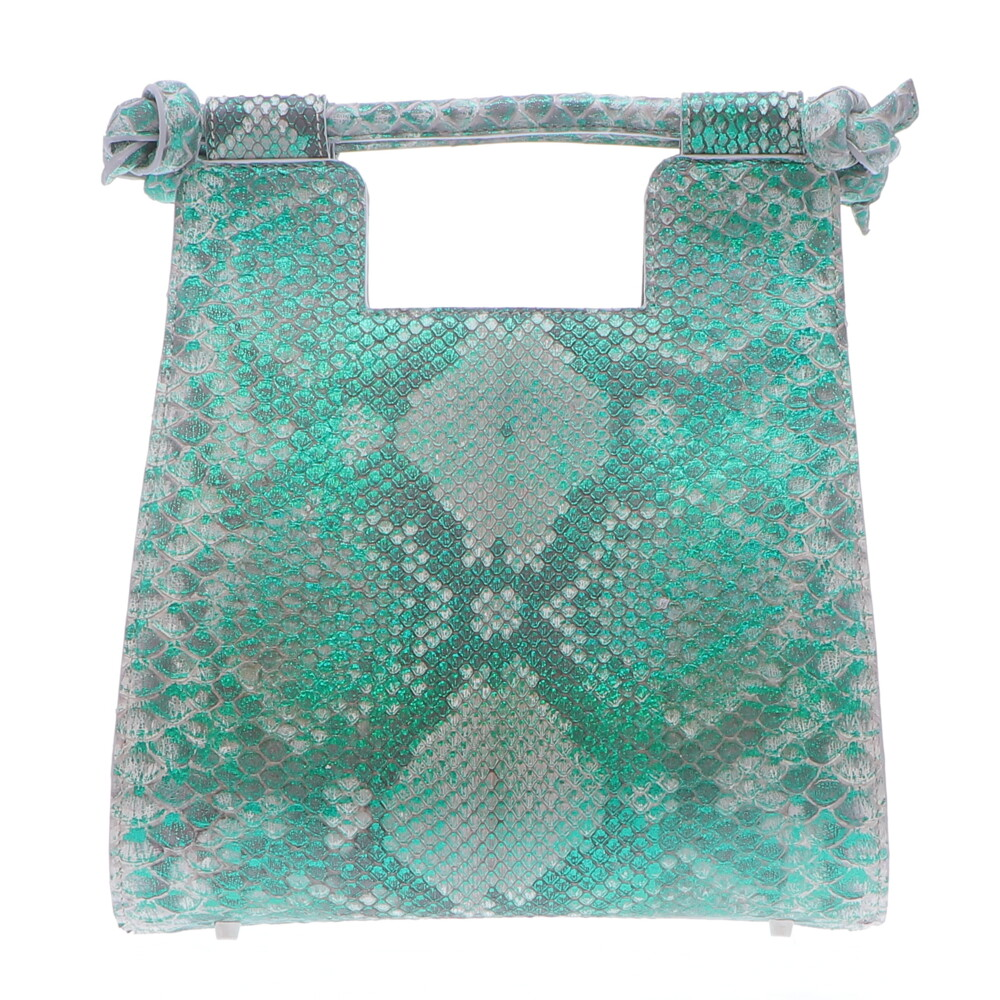 Small Metalic Green Python Resort Bag