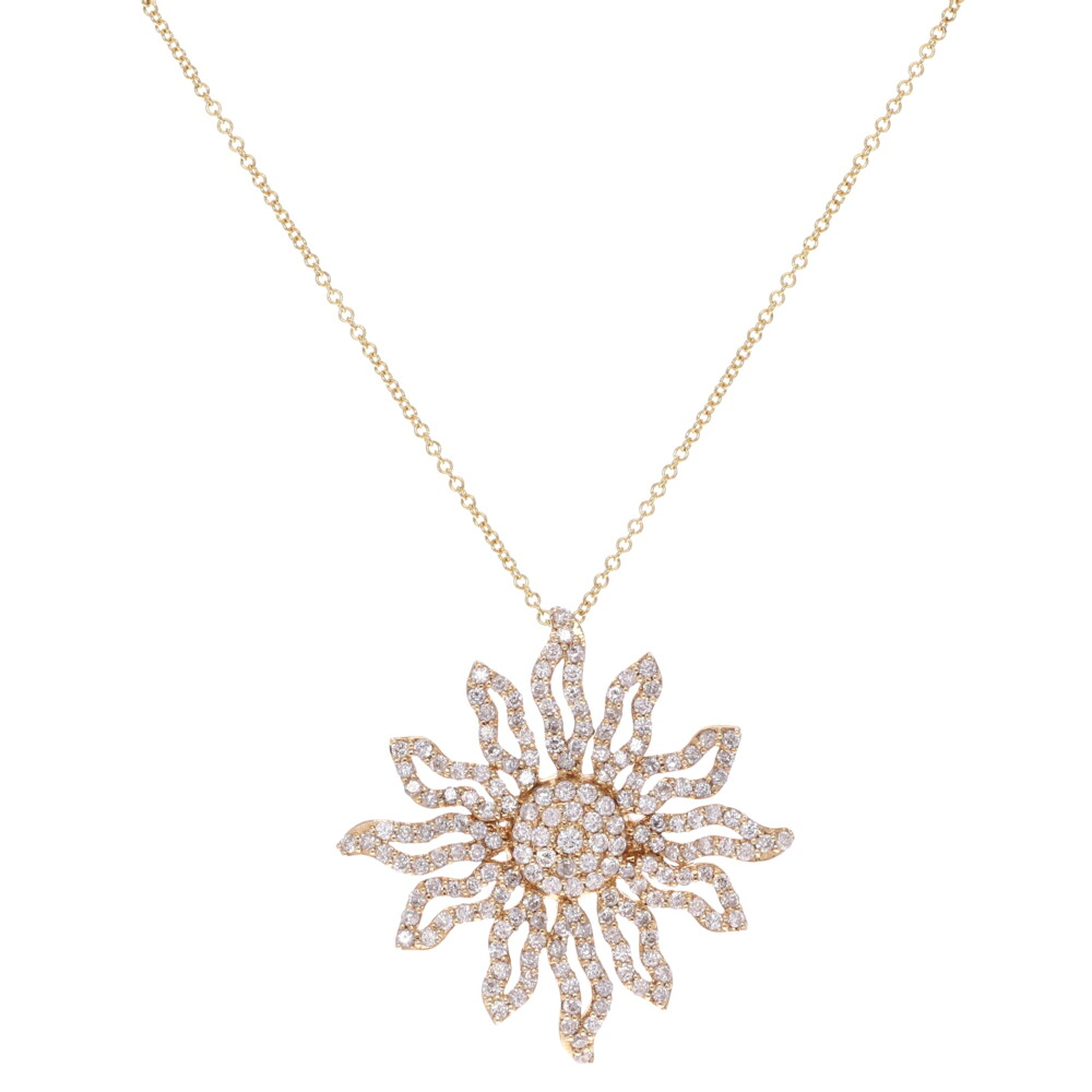 Sun Solstice with Pave Diamonds