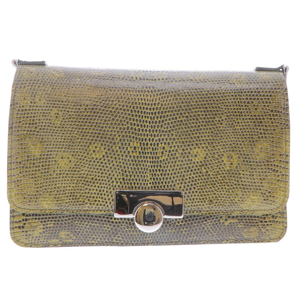 Olive Lizard Chain Bag