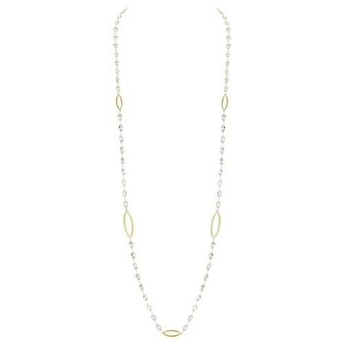 White Topaz Chain with Strie Oval Detail