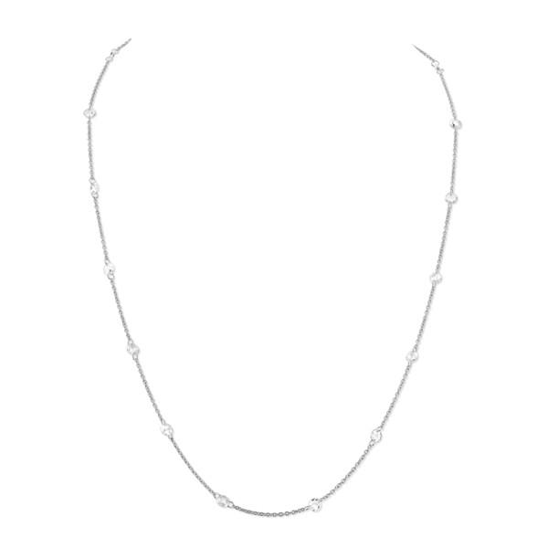 Closeup photo of Rose Cut White Diamond Chain