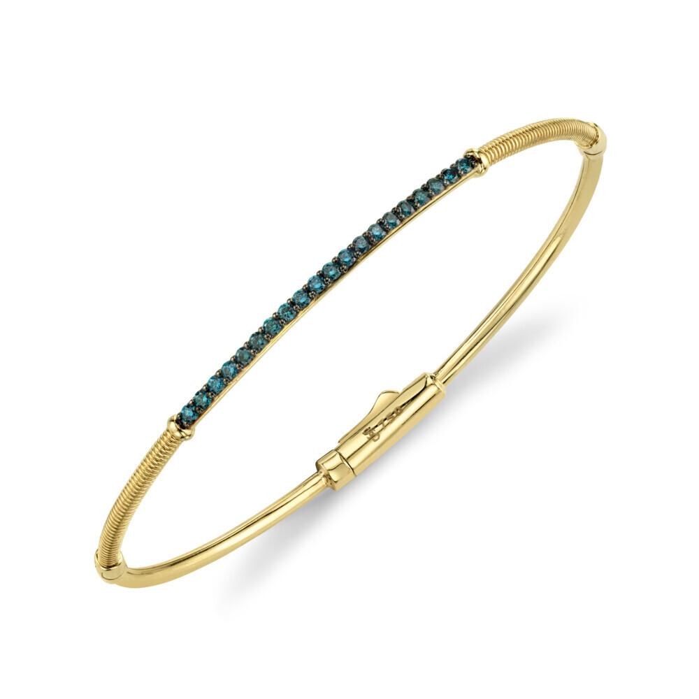 Blue Diamond and Strie Detail Bracelet
