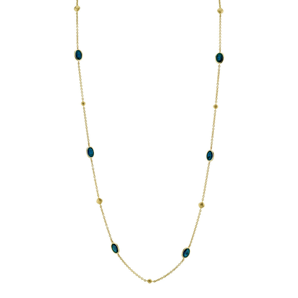 London Blue Topaz By The Yard Chain