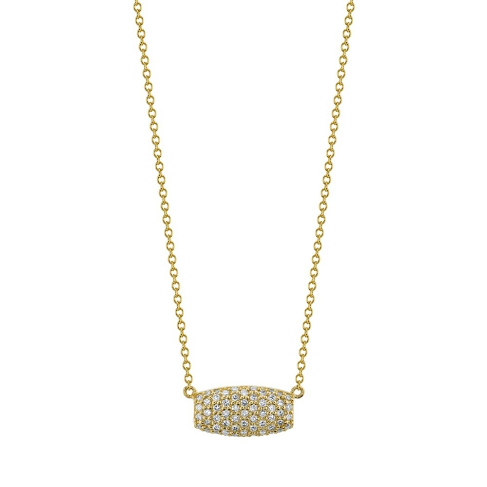 Pave White Diamond Samantha On Simple Chain