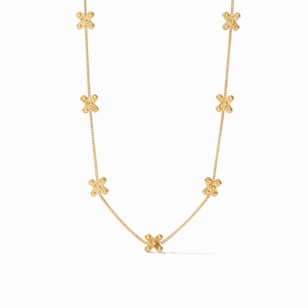 Closeup photo of SoHo Delicate Station Necklace in Gold