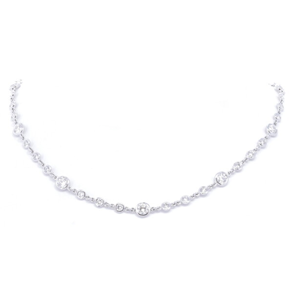 Closeup photo of 18k Diamond By The Yard Necklace