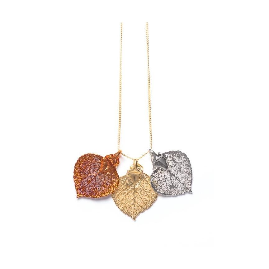 Aspen Leaf Triple Necklace