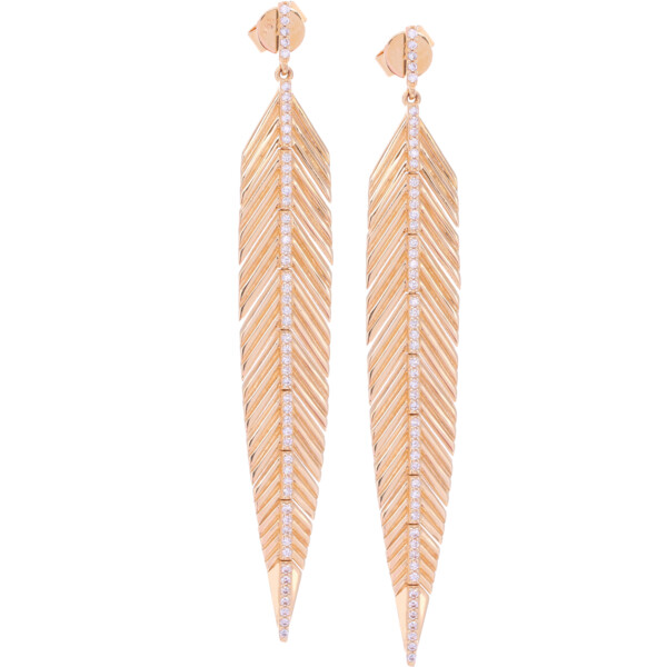Closeup photo of Large Feather Earrings