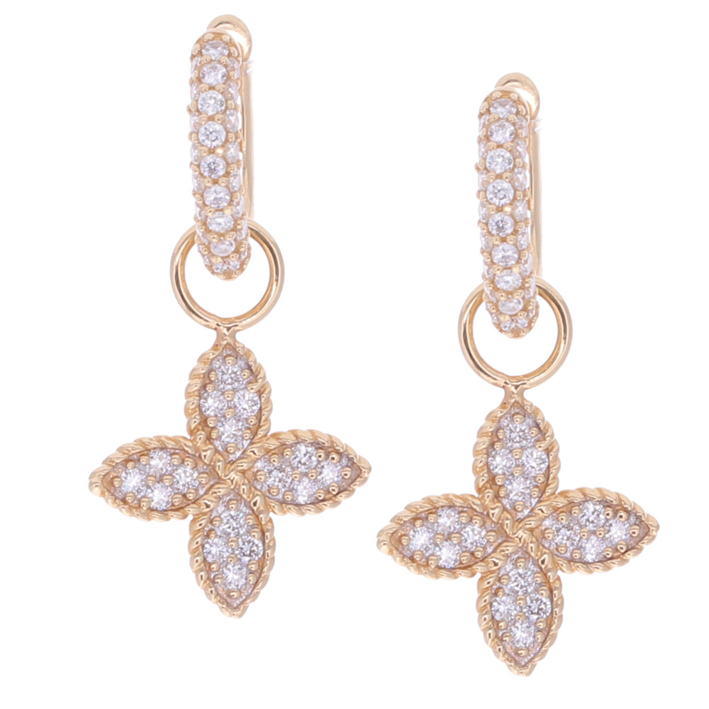 Clover Earring Charms 0.24tcw