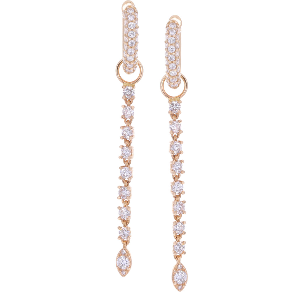 Long Diamond Duster Earring Charms