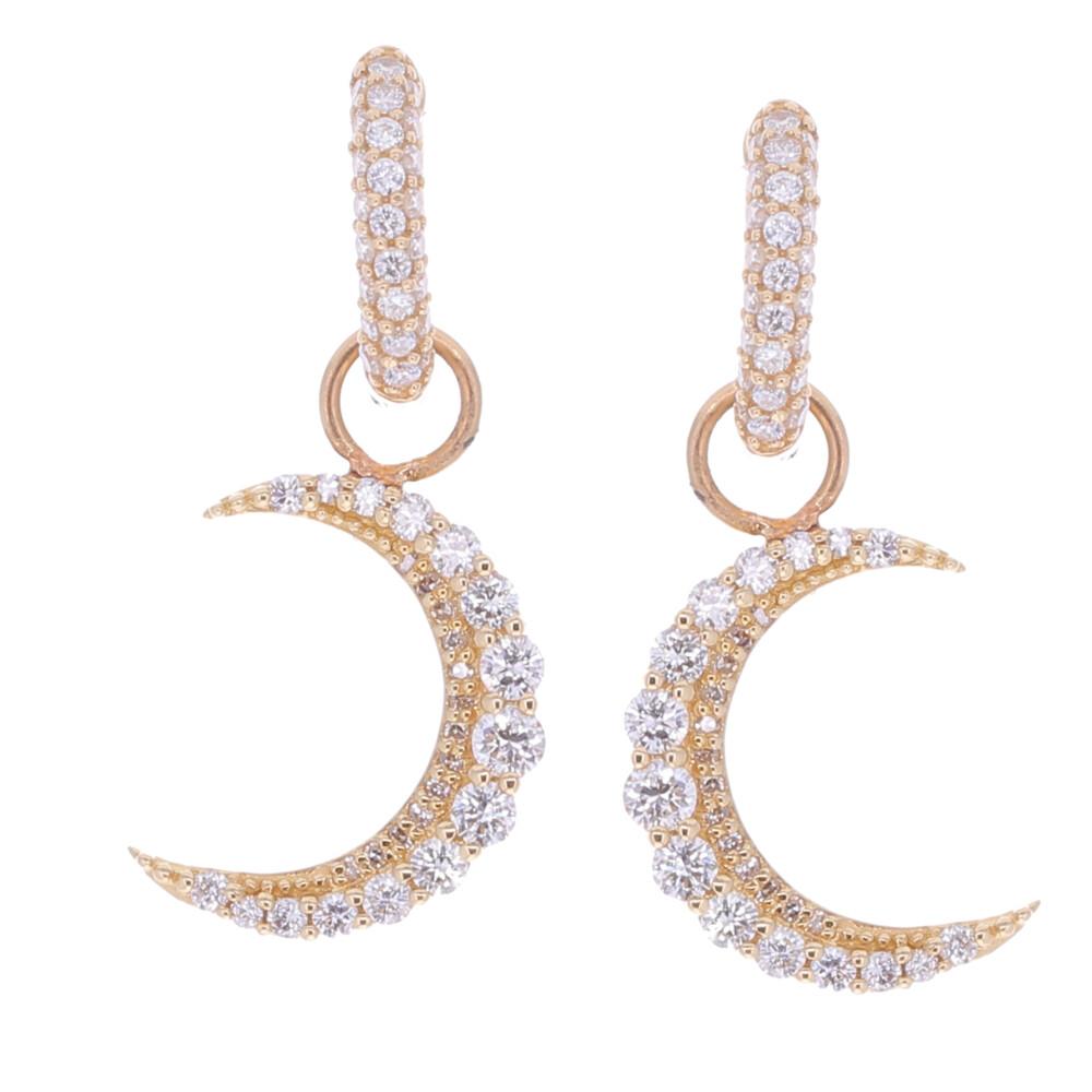 Diamond Crescent Earring Charms