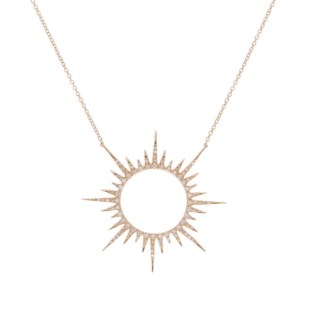 Starburst Pendant Necklace 0.49tcw