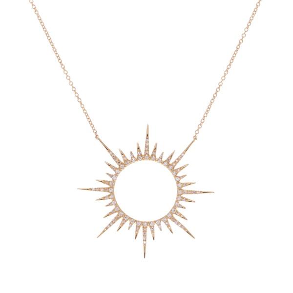 Closeup photo of Starburst Pendant Necklace 0.49tcw