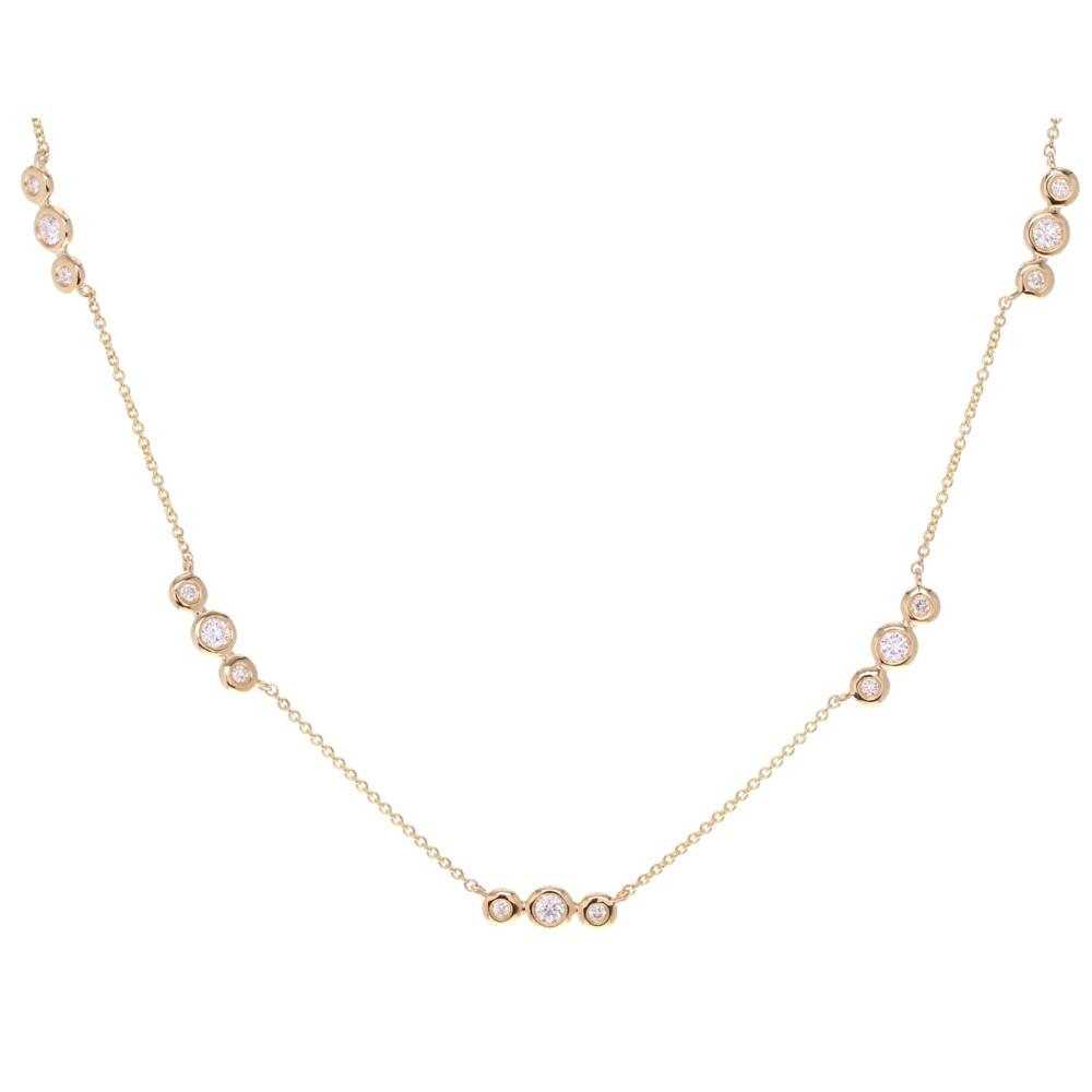 Triple Bezel Set Diamond Layering Necklace