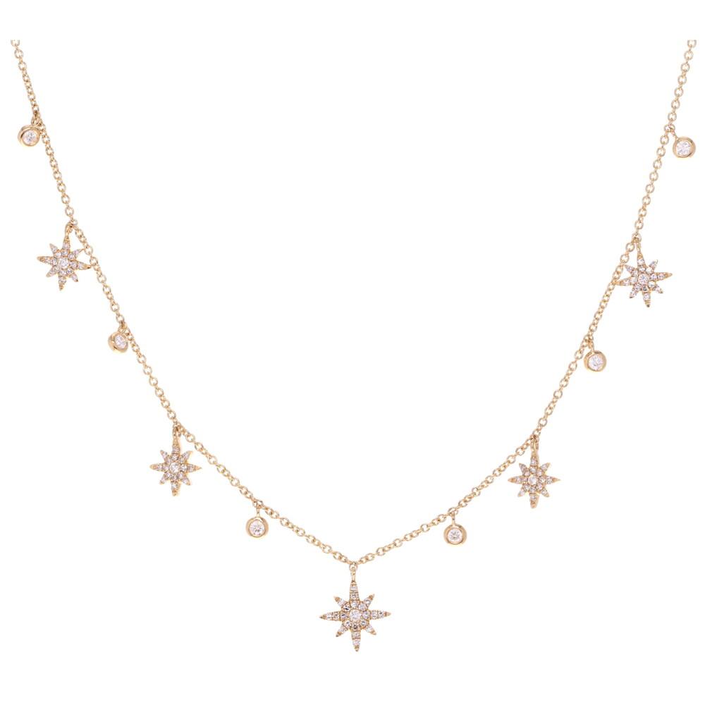 Starburst Dangle Layering Necklace