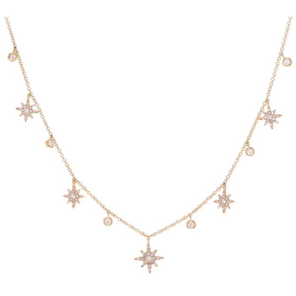 Closeup photo of Starburst Dangle Layering Necklace