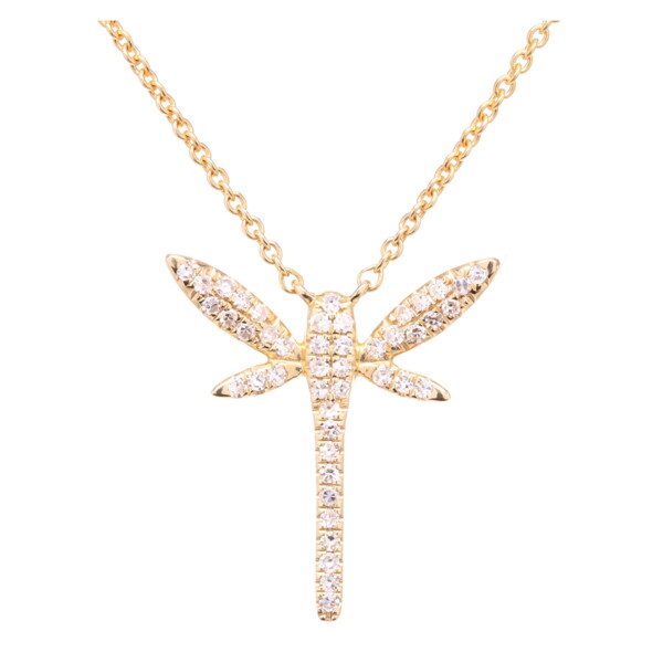 Closeup photo of Dragonfly Pendant Necklace