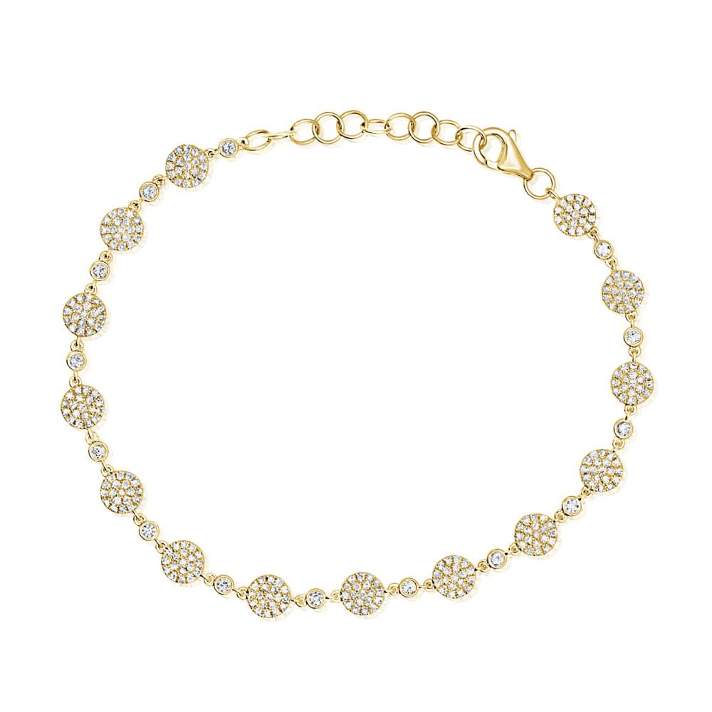 Pave Diamond Disk Bracelet