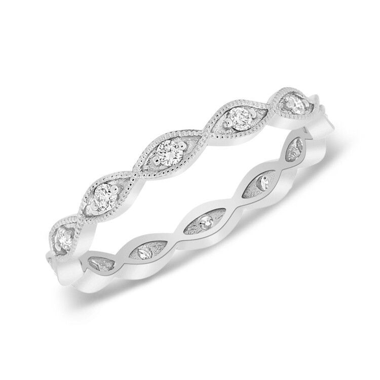 Marquise Diamond Stack Ring