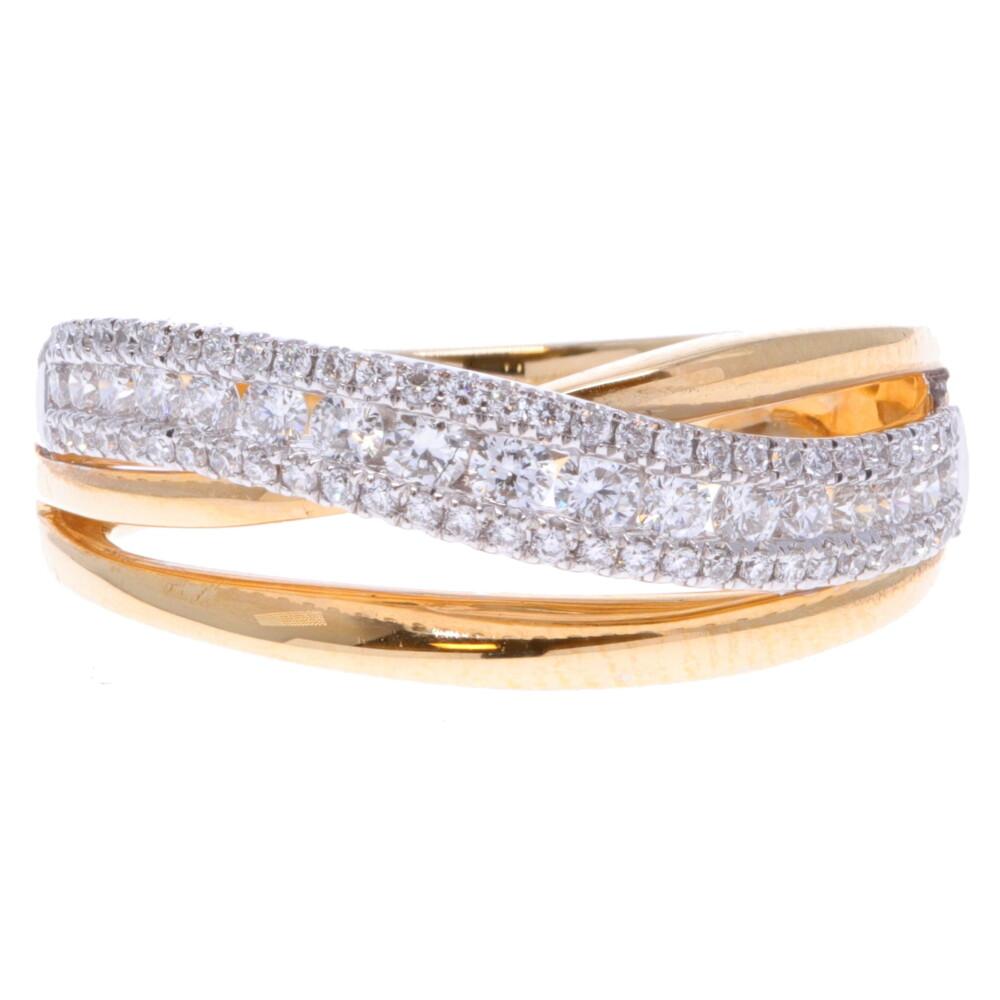 14k Diamond Wave Ring