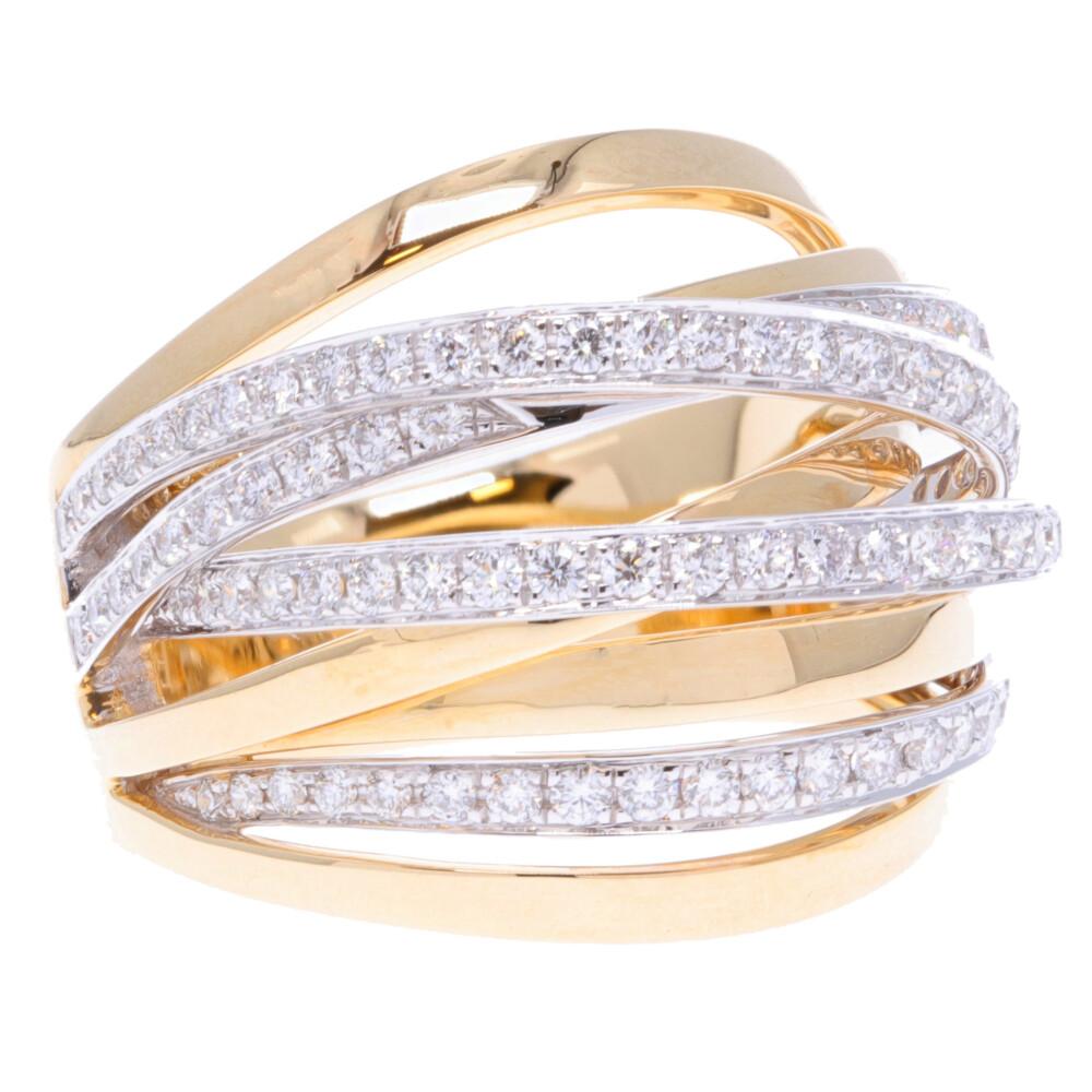 14k Multi Row Diamond Ring