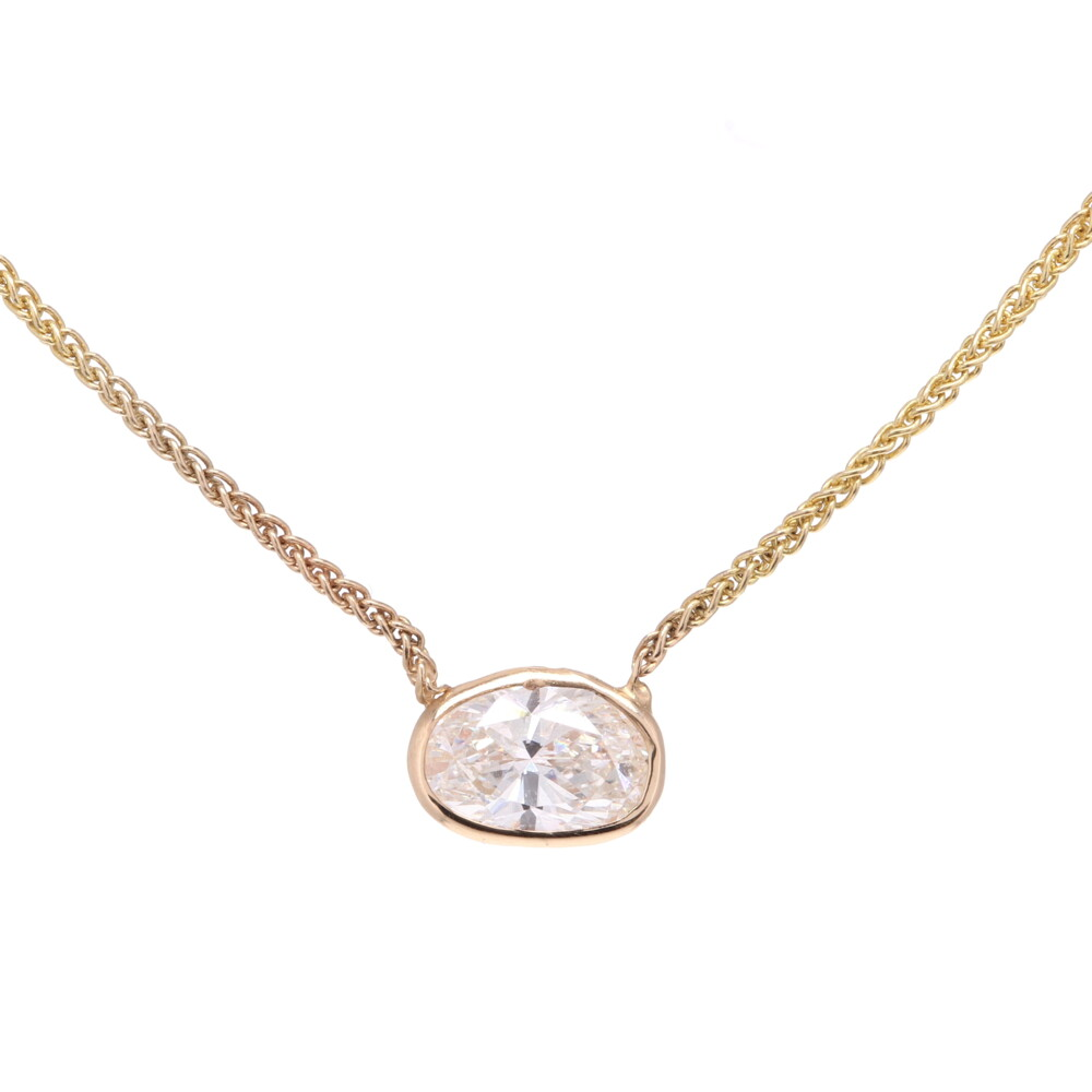 "18"" Diamond By the Yard Necklace with PS Center"