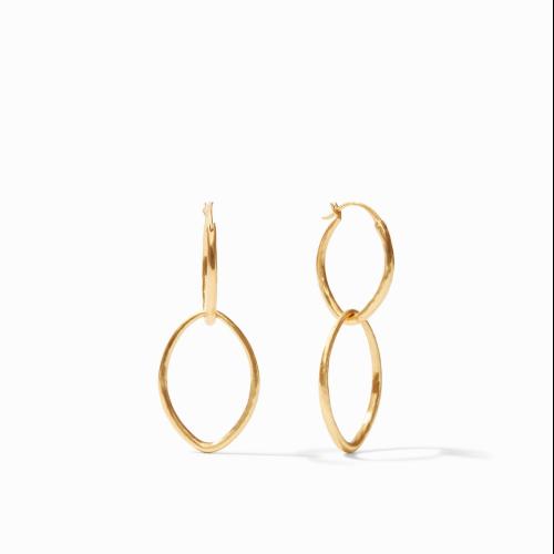 Closeup photo of Fleur-De-Lis 2 in 1 Earring Gold