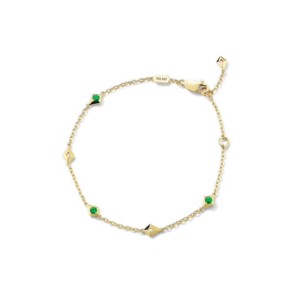 Closeup photo of Vohk Emerald Bracelet