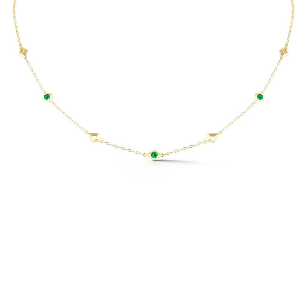 Vohk Emerald Short Chain Necklace