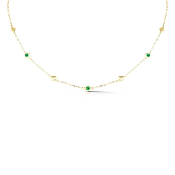 Closeup photo of Vohk Emerald Short Chain Necklace