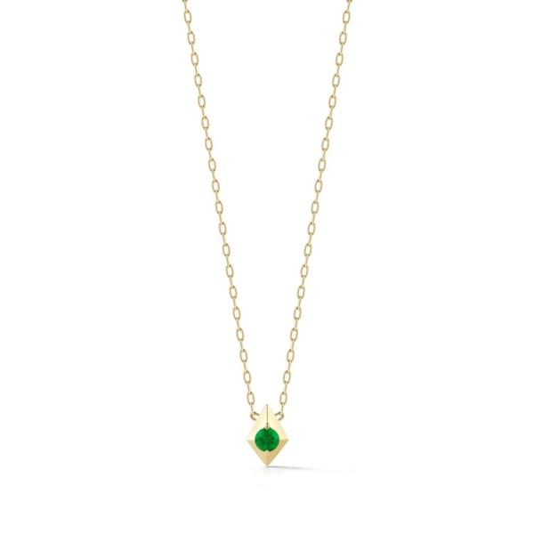 Closeup photo of Vohk Emerald Pendant Necklace