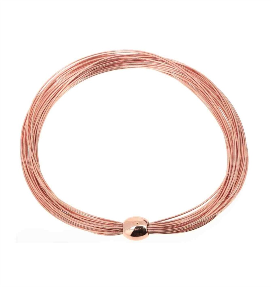 DNA Spring Thick Necklace Rose Gold
