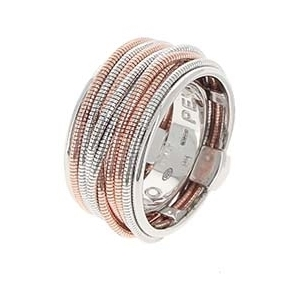 Mixed Metal Thin DNA Spring Ring