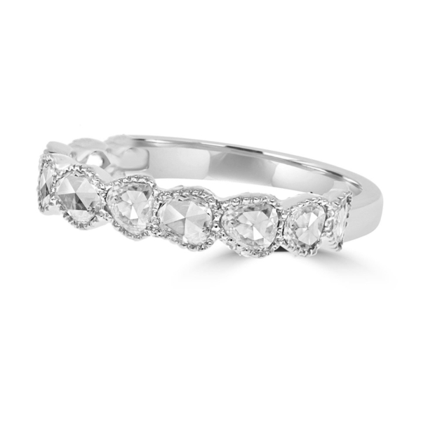 Closeup photo of 18k Maya Rose Cut Diamond Half Stack Band