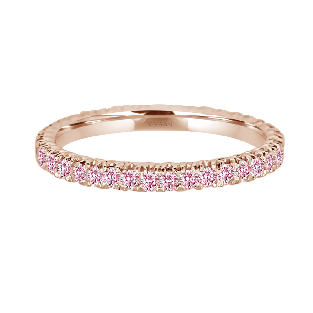 18k RG Pink Diamond Stack Band