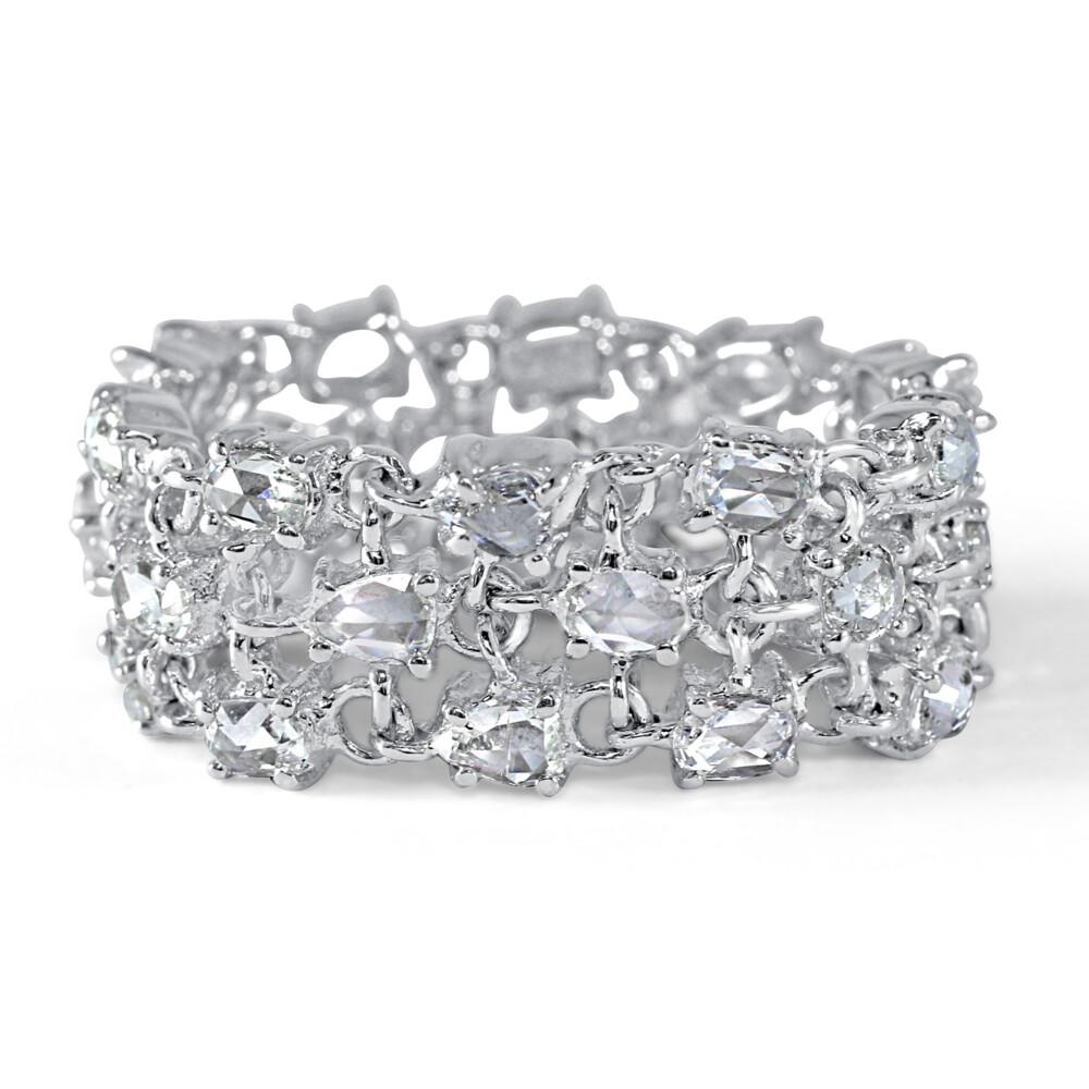 18k WG Rose Cut White Diamond Flexible Ring
