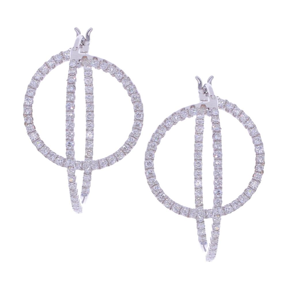 18k Diamond Twist Hoops