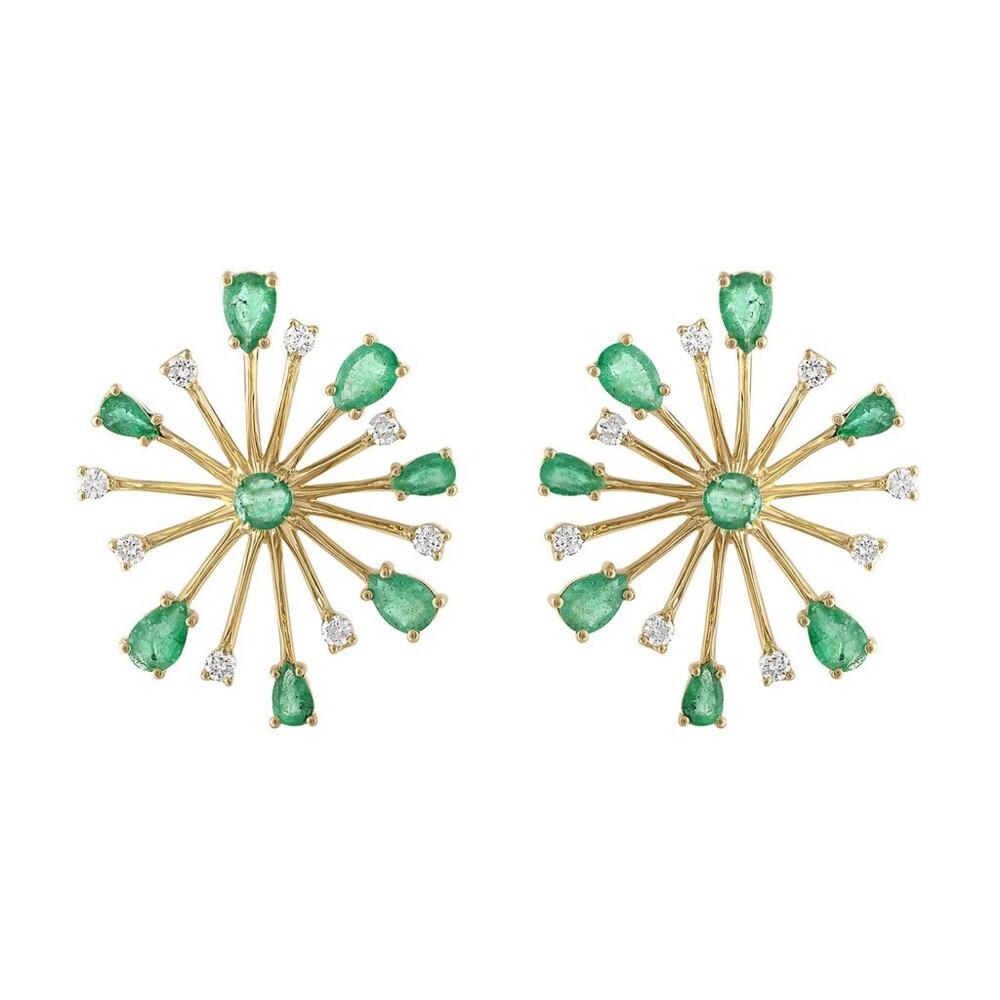 Pop Rocks Emerald Earrings - Large