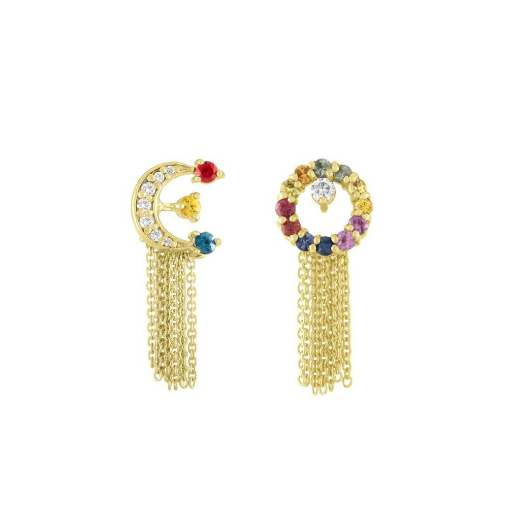 Full Moon & Crescent Tassel Studs