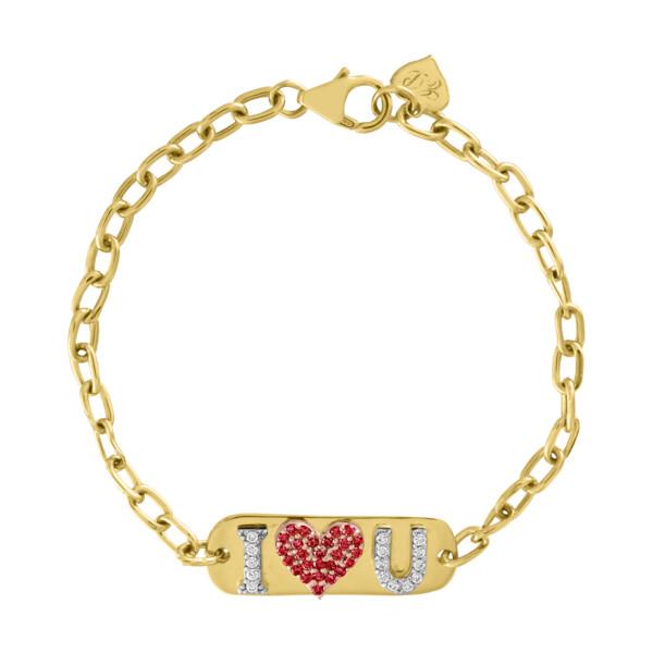 Closeup photo of I Love You ID Bracelet *Customizable