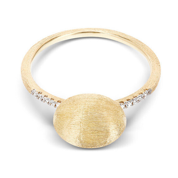 Dancing Elite Large Gold Boule & Diamond Stack Ring