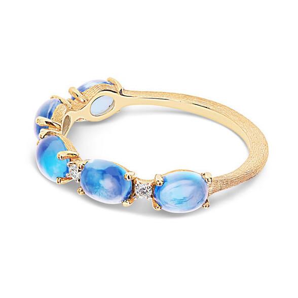 Dancing Azure Stack Ring in London Blue Topaz