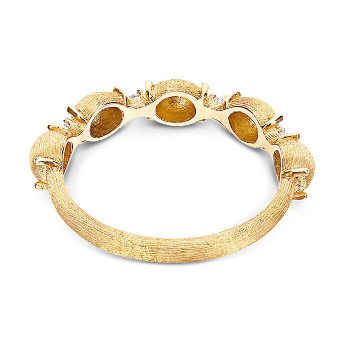 Dancing Elite 5 Gold Pearl Stack Ring