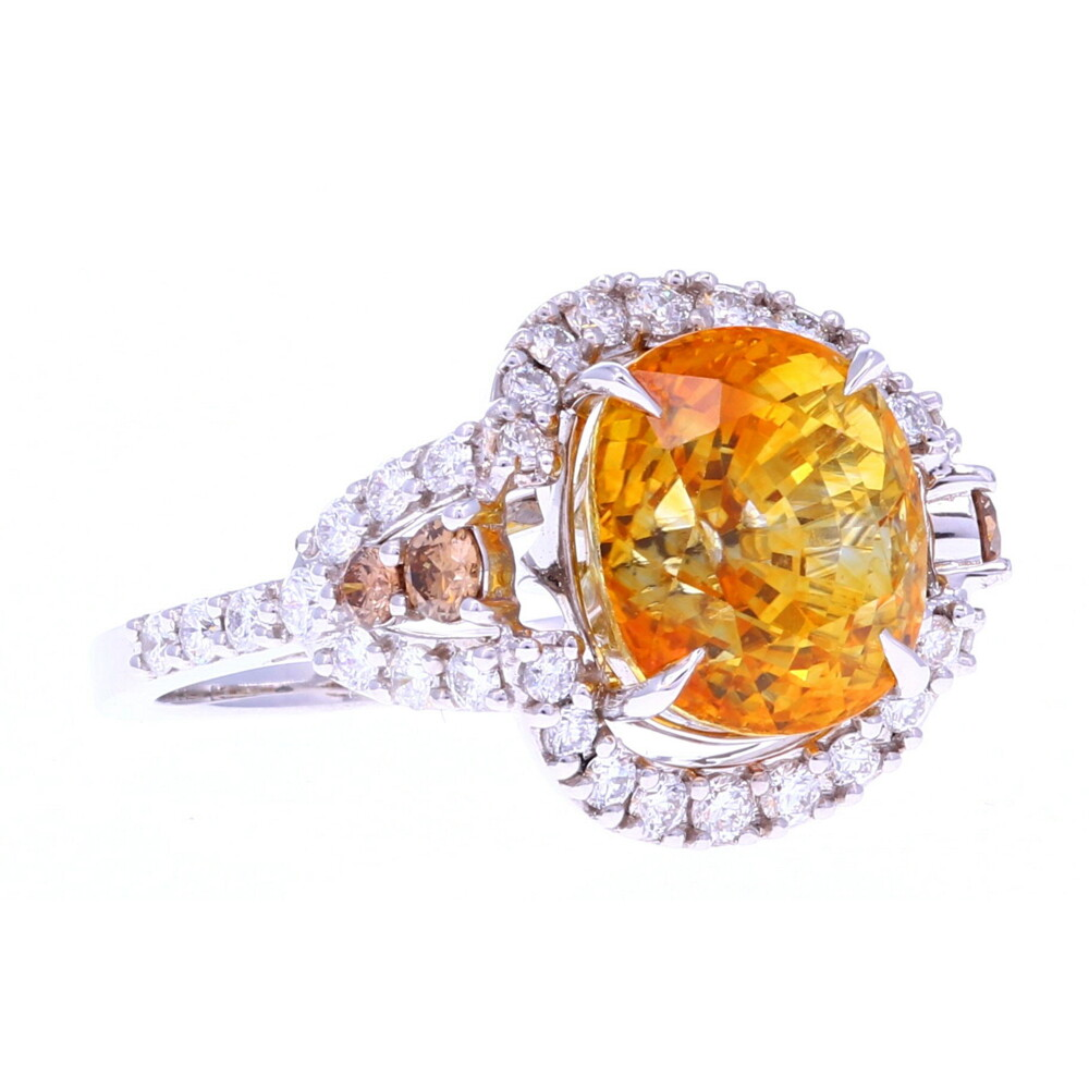 18k Oval Yellow Sapphire Ring