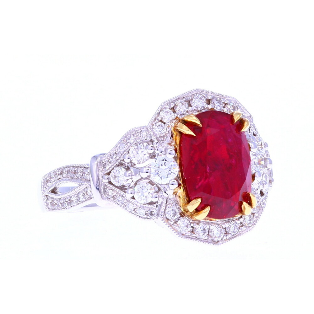 18k Oval Ruby Ring
