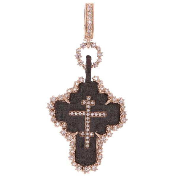 Closeup photo of Ancient Russian Orthodox Cross Pendant